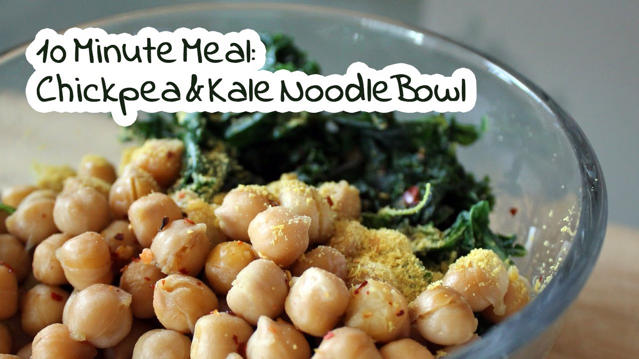 Kale & Chickpea Noodle Bowl | 10 Minute Vegan Meals by Mary's Test Kitchen