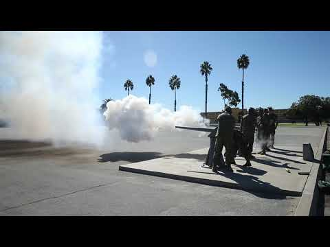 DFN: Lt. Gen. Osterman Cannon Salute SAN DIEGO, CA, UNITED STATES 10.19.2018