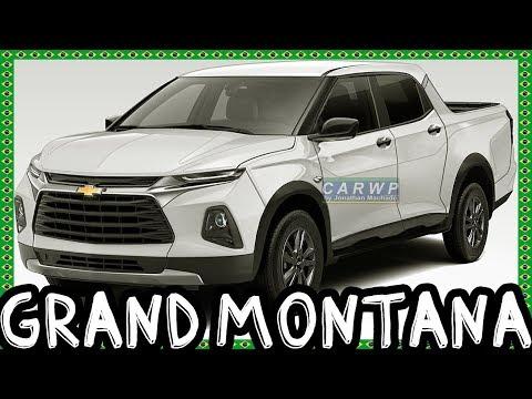 PHOTOSHOP Nova Chevrolet Grand Montana CD 2020 Mini S10 Futura Rival Da Toro & Oroch @Tracker Pickup