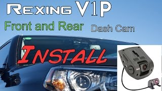Rexing V1P - Dash Cam with Rear Camera - 2016 Toyota 4runner