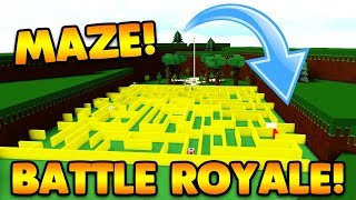 RIESIGE MAZE PVP BATTLE ROYALE! | Baue ein Boot für Schatz ROBLOX
