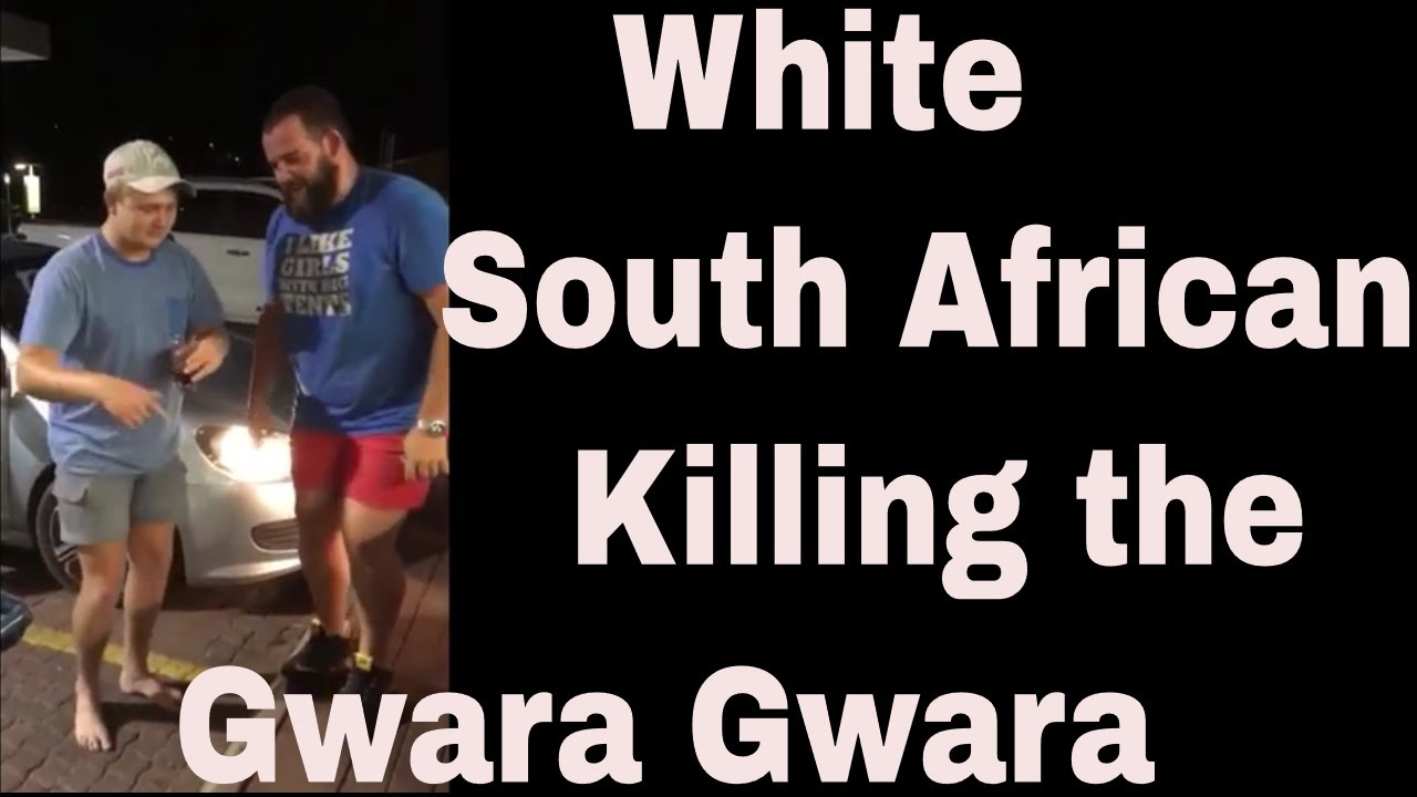 White South African Dancing the Gwara Gwara Dance