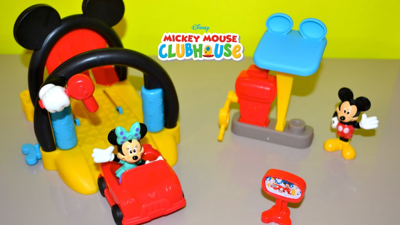 disney junior mickey mouse clubhouse mickey mouse car wash with minnie mouse youtube. Black Bedroom Furniture Sets. Home Design Ideas