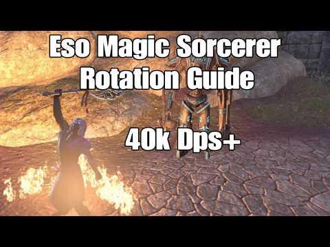 ESO: Magic Sorcerer Rotation Guide for Endgame pve (Morrowind)