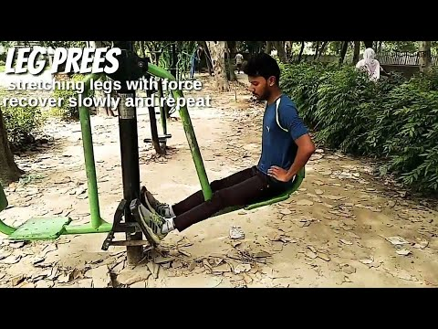Outdoor Gym All Equipment Workout | English Subtitle | Viven Roy