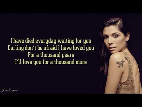 Christina Perri - A Thousand Years (Lyrics) from YouTube · Duration:  4 minutes 50 seconds