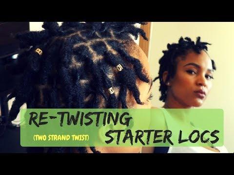 HOW TO: RETWIST TWO STRAND TWIST STARTER LOCS {KIESHA ARIELLE}