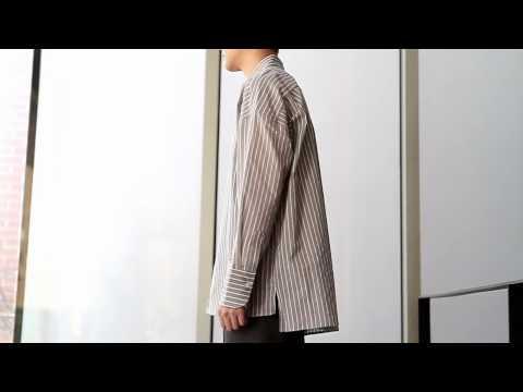 [컴포타임] 스트라이프 오버핏 셔츠