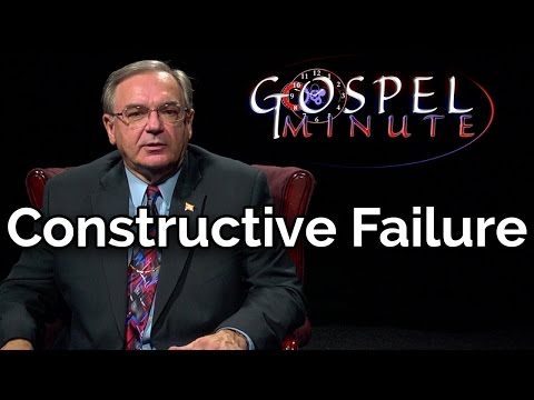 One Gospel Minute - Constructive Failure
