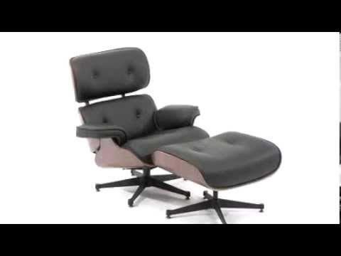 HERCULES Presideo Series Top Grain Black Or White Italian Leather Lounge  Chair And Ottoman Set Made Photo