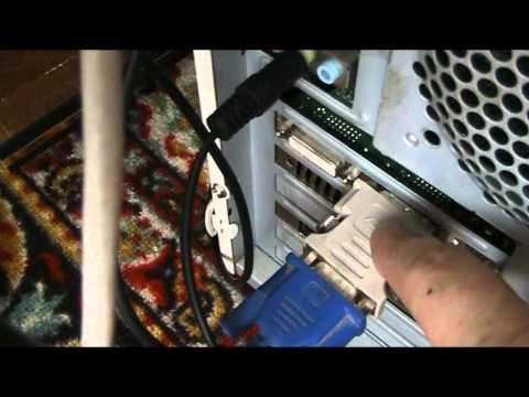 видео: Подключение телевизора к компьютеру