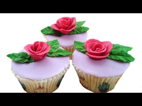 Капкейки с розами из мастики | Rose Cupcake Tutorial