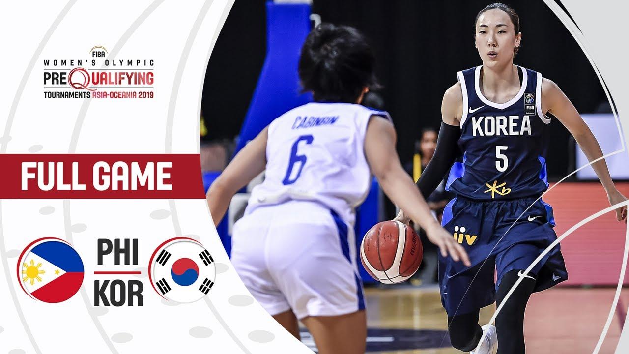 Philippines v Korea - Full Game - FIBA Women's Olympic Pre