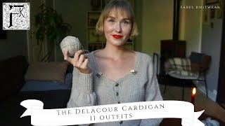 Styling 11 Outfits with my New Handknit Delacour Cardigan!
