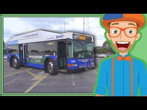 Bus Videos For Children By Blippi | Educational Videos For Kids