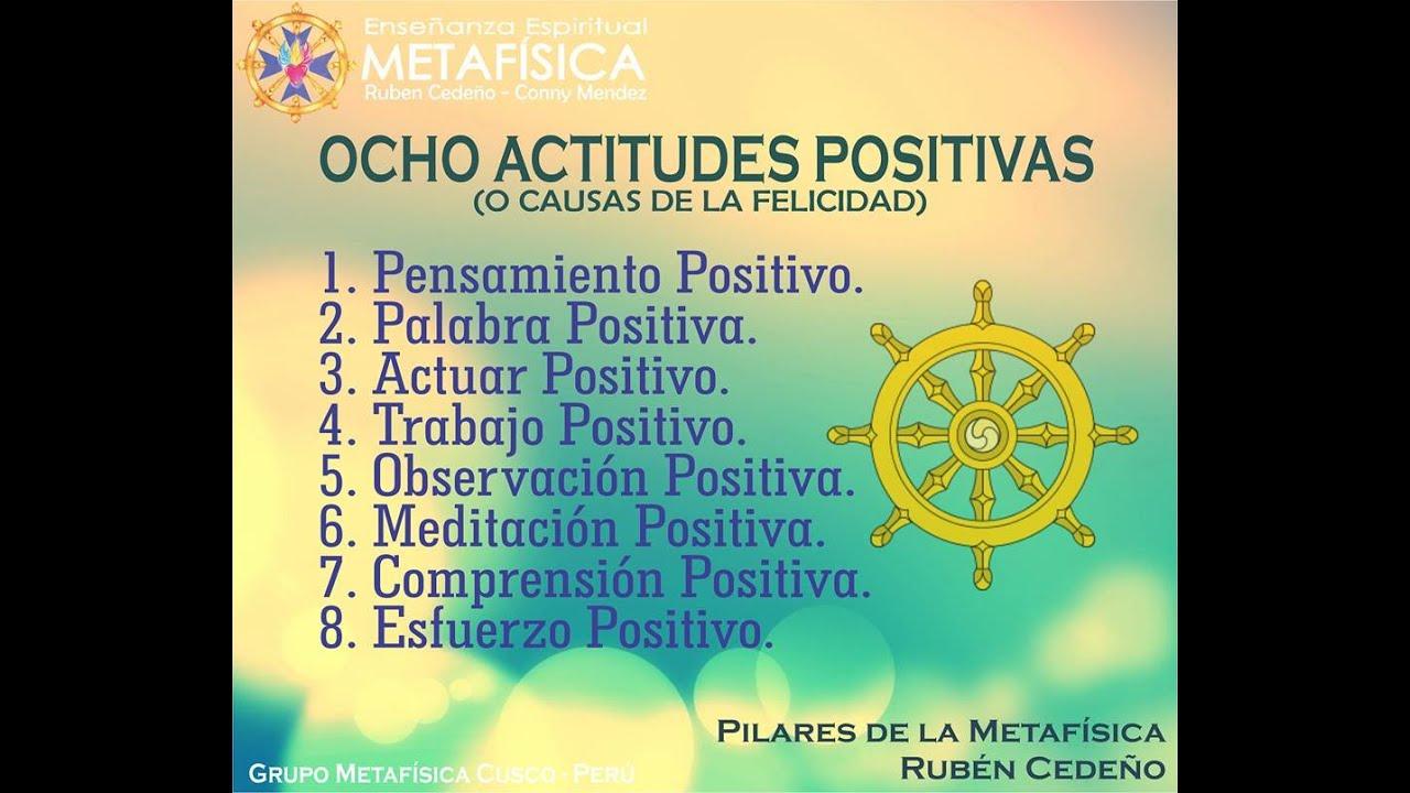 Ocho Actitudes Positivas o Causas de la Felicidad - YouTube