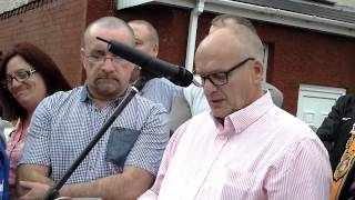 048 DAY 71 WEST BELFAST UPRG's IAN MCLAUGHLINs SPEECH AT WOODVALE PART 2