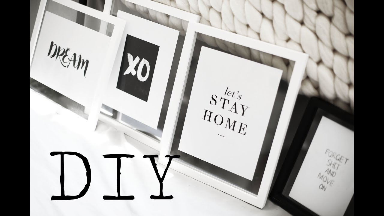 Bon DIY | Minimal Pinterest Wall Art   YouTube