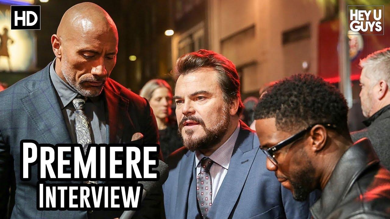 Dwayne The Rock Johnson Kevin Hart Jack Black Jumanji 2 Premiere Interview