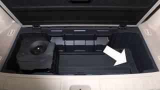 2015 nissan pathfinder spare tire and tools