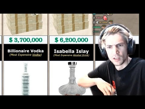 XQc Reacts To Food Price Comparison   Cars, Jets And Yachts Price Comparison