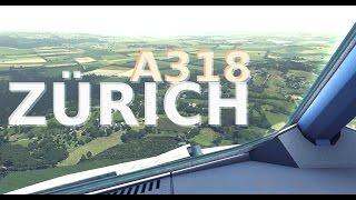 FSX A318 Zurich Landing (FS2Crew)