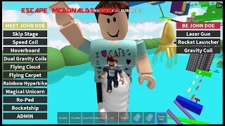 ROBLOX ESCAPE MCDONALDS OBBY! Completed