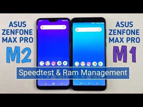 Asus Zenfone Max Pro M2 vs Asus Zenfone Max Pro M1 Speed Test & Ram Management