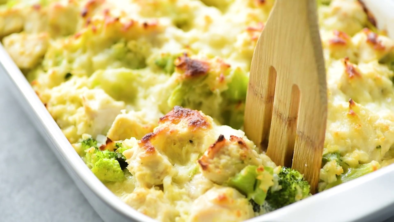 Broccoli Cauliflower Rice Chicken Casserole Recipe - Youtube-6625