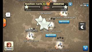 10vs10 Clan War - 30 stars in 3 minutes - Clash of Clans