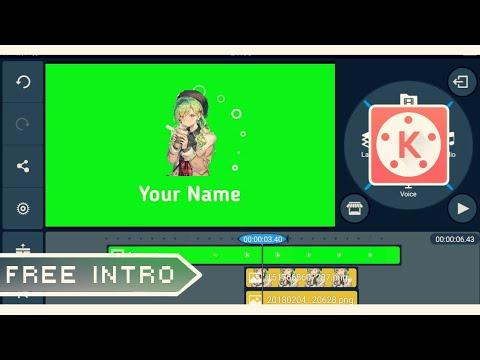 「Kinemaster」Simple Intro Green Screen (Tutorial) ✘