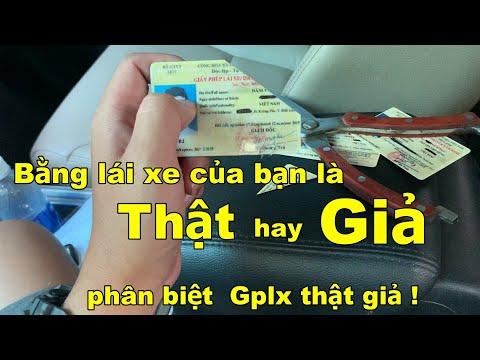 Bằng Lái Xe trong Ví Bạn là Thật hay Giả ? Cách phân biệt GPLX Thật Giả | Ô Tô Vlog