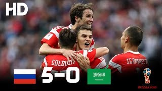 Russia vs Saudi Arabia(5-0) - 2018 FIFA World Cup Russia- Highlights HD