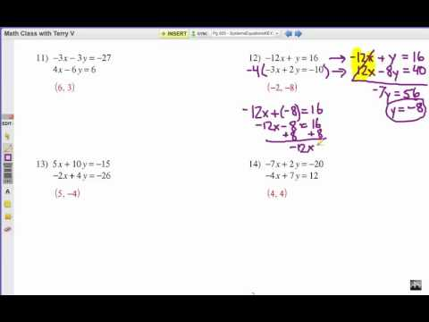 How To Solve Systems Of Equations Elimination 2 Youtube