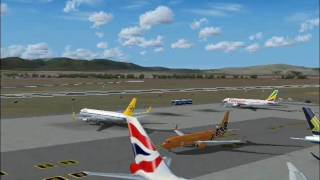 AI Traffic at Cape Town Airport, South Africa (FS2004)