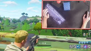 How To Tfue - Crouch Peek  With A Keyboard Cam (How To Do It)
