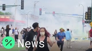 Tear Gas Fired at George Floyd Protests in Minneapolis