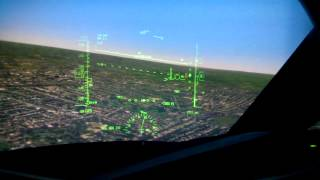 Boeing 787 max crosswind landing (sim)