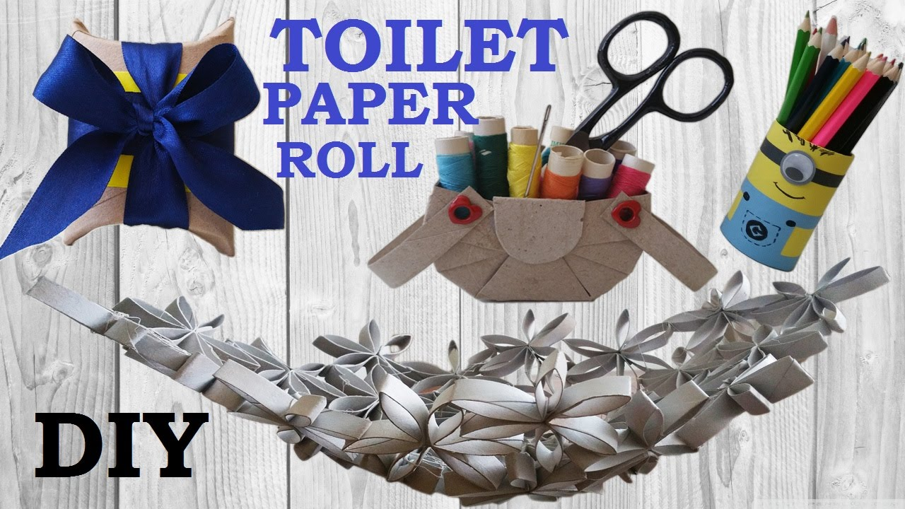 10 diy toilet paper roll crafts recycle how to youtube jeuxipadfo Image collections