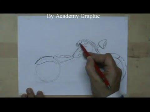 Come Disegnare Una Moto Motocicletta A Matita Youtube