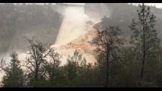 California's Tallest Dam Overtopping, Spillway Fails from Sinkhole Damage, Possible Evacuation (308)