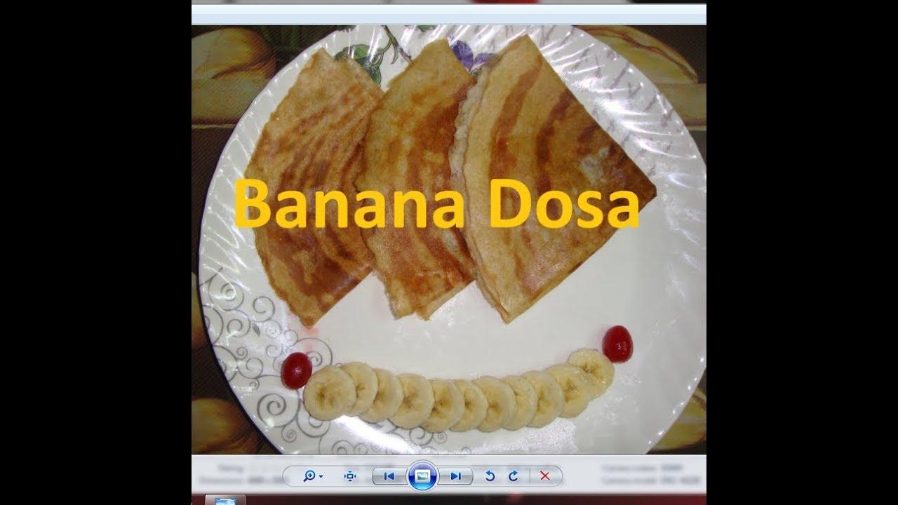 Banana Dosa recipe by Raks Kitchen - YouTube