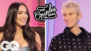 Megan Fox & Machine Gun Kelly Ask Each Other 40 Questions | The Couples Quiz | GQ