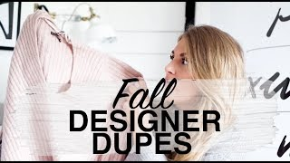 FALL DESIGNER DUPES | CHANEL, GUCCI, ACNE | SINEAD CROWE