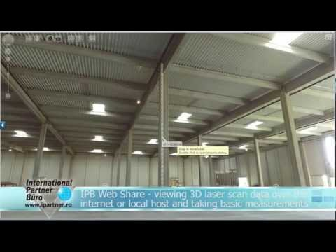 Industrial Shed / 3D Laser Scanning / Web Share
