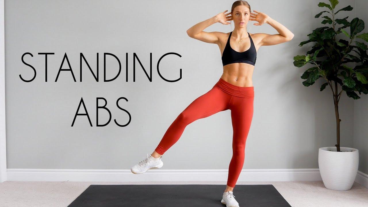 Download 10 min STANDING ABS Workout (Intense & No Equipment)