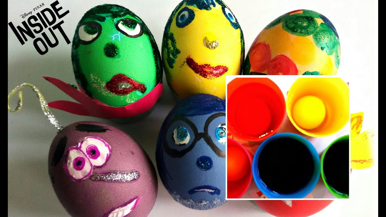 Disney coloring inside out - Inside Out Disney Movie Coloring Eggs How To Color Easter Eggs With Monster High Characters