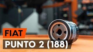 Como substituir a filtro de óleo e óleo do motor no FIAT PUNTO 2 (188) [TUTORIAL AUTODOC]