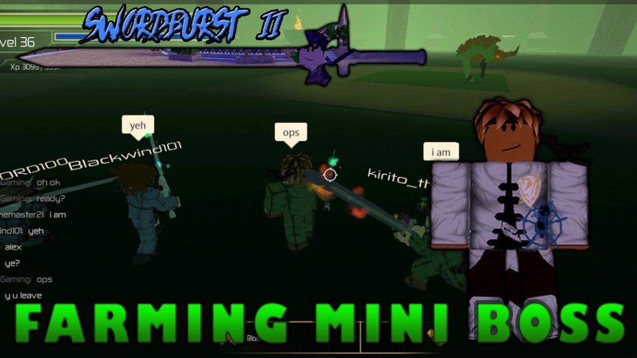 Farming floor 4 mini boss swordburst 2 youtube for Floor 2 boss swordburst 2