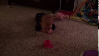 Jade learns to army crawl pt1